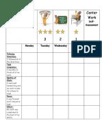 center work rubric draft 2