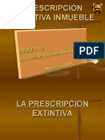 La Prescripcion Extintiva