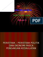 Ips 3 Bab 4 Peristiwa Politik Dan Ekonomi Pasca Kedaulatan1
