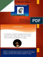 Exposicion de Deontologia