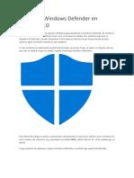 Desactiva Windows Defender en Windows 10