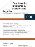 Personal Relationship, Social Relationship and Family Structures