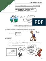 II BIM - BIOLOG - 2do. Año - Guía 7 - Adaptac. de Las Planta