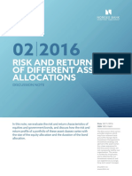 Discussion Note 2-16 Risk and Return of Different Asset Allocations