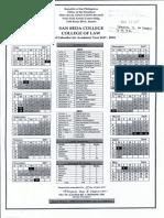 Col School Calendar - 2017-2018-2