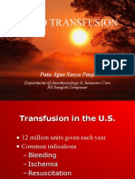 Blood Transfusion in Crtitical Ill