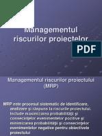 Managementul riscului  proiectului