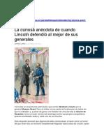Abraham Lincoln Defiende Al General Grant ...