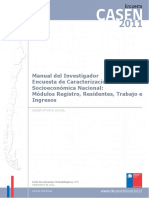 Manual Del Investigador Casen 2011