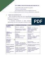 Administracion y Direccion Integrada Del Proyecto