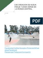 Propuesta de Creacion de Nueva Area de Patinaje y Zona Verde en Tramos de La Ronda Central - Lorca