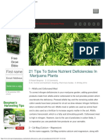 21 Tips to Solve Nutrients Deficiencies in Marijuana Plants
