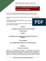 Ley Organica de La Administracion Df