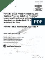 Howarth Christian Frear 1997 Porosity Single Phase Permeability SAND94 0472-1-2 3