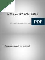 Dr Gita-masalah Gizi Komunitas
