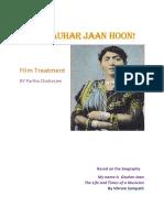Treatment Gauhar JaanParthaChatterjee.doc