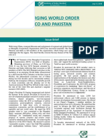 Emerging World Order SCO and Pakistan