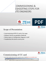Pre Commissioning Steps of ZTE SDR