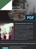 Group1 Keda's SAP Implementation