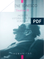 Eugen Ionescu - Teatru - Vol.2 - Jacques; Viitorul e in Oua; Scaunele [v. 0.9]