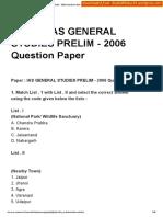 2006 GS Prelims Paper Shashidthakur23.Wordpress.com