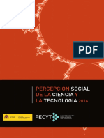 PERCEPCIÓN SOCIAL DE LA CIENCIA Y LA TECNOLOGÍA 2016