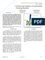 Design and Multi Axial Load Analysis of Automobile Steering Knuckle