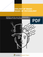 The Psychology of Magic and the Magic of Psychology
