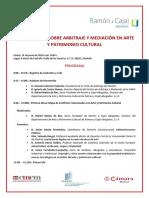 180613 I Conferencia Sobre Arbitraje y Arte