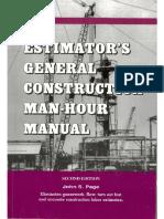191145281 Estimator s General Construction Man Hour Manual b 2