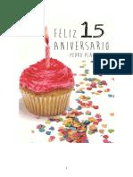 Feliz 15 Aniversario Libro Mail