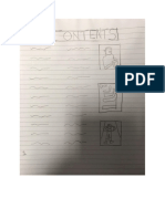 Draft Cover and Contents Page