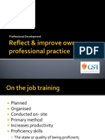 Lecture_Reflect Improve Own Professional Practice
