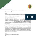 Formato de Carta de Compromiso de Beneficiarios y Formato Carta de Compromiso de Ejecutores - Og