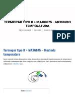 Termopar tipo K + MAX6675 - Medindo temperatura