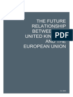 The Future Relationship Between the United Kingdom and the European Union WEB VERSION