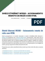Shield Ethernet W5100 - Acionamento Remoto de Relés Com HTML