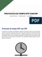 Protocolo de Tempo NTP Com ESP