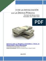 Impacto de la devaluación en deuda pública bonaerense