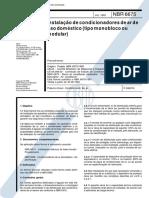 NBR 06675 - 1993 - InstalaþÒo de Condicionadores de Ar de Uso DomÚstico (tipo monobloco ou modular).pdf