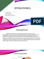 Ppt Bio Sel Mitokondria1A