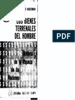 Huberman Leo 1936 - Los Bienes Terrenales Del Hombre (Editorial Nuestro Tiempo)