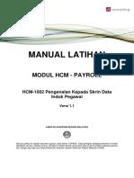 HCM 1002 Pengenalan Kepada Skrin Data Induk Pegawai
