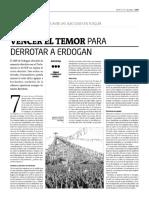 Vencer el temor para derrotar a Erdogan
