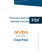 ClearPass Configuration Guide Onboard Cloud Identity Providers v2017 01