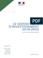 Rapport de m. Jean Pisani-ferry - Le Grand Plan d Investissement 2018-2022