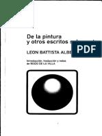 L. B. Alberti, De La Pintura y Otros Escritos Sobre Arte