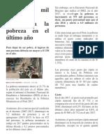 INEI La Pobreza en Peru