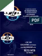 RETO MTB 12 Horas - Presentación Patrocinadores