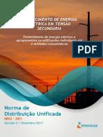 NDU 001 - Fornecimento de Energia Elétrica Em Tensão Secundária Edificações Individuais Ou Agrupadas Até 3 Unidades V5